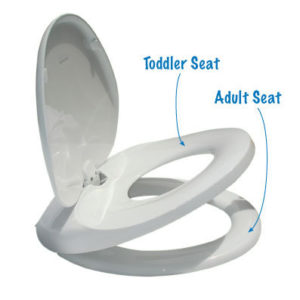Easy Potty Training Toilet Seat (Elongated) 18″Long