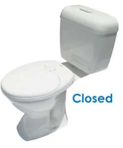 Child toilet seat closed