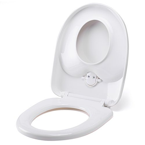 family toilet seat potty training 2 in 1 white with soft close 0 0